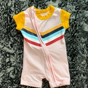 Cotton On Baby vintage-inspired zip 1 piece